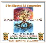 2018 51st Annual District 22 Convention - CD Set