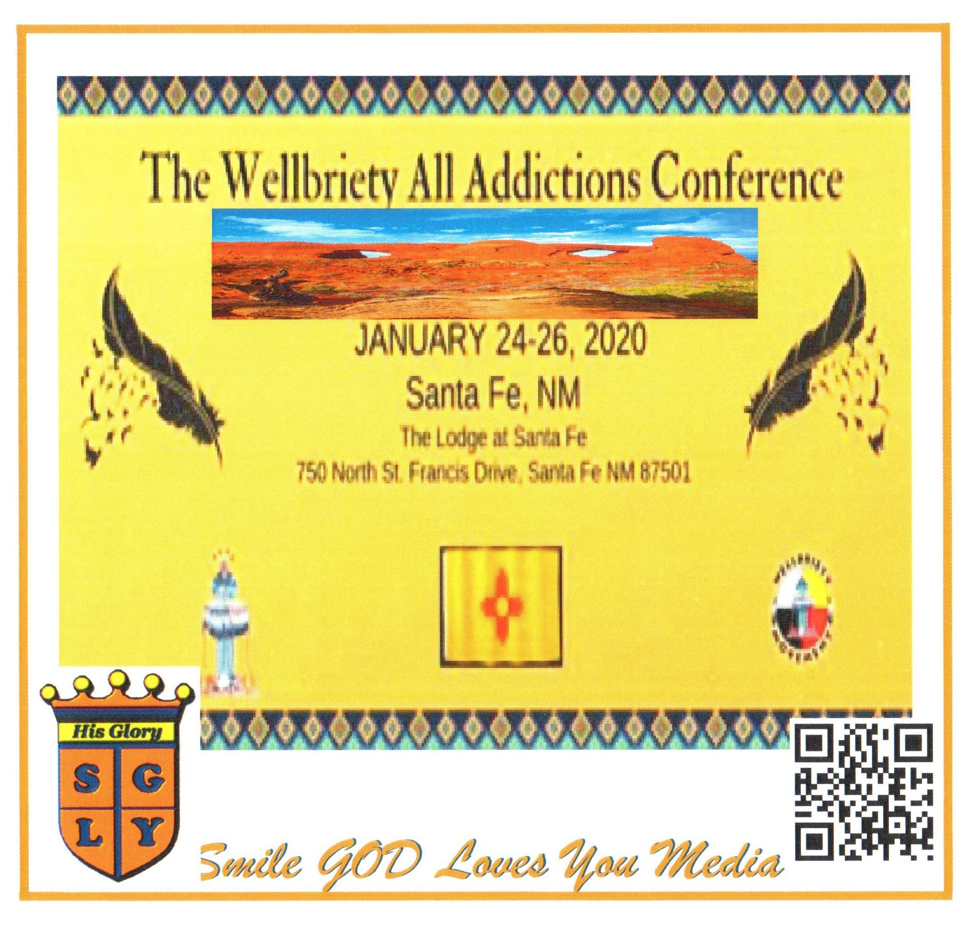 1st Wellbriety All Addictions Recovery Conference              01/24, 25, 26/2020                                2020AARC    Flash Drive