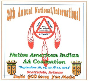 24th Annual National/International Native American Indian AA Convention 2014.  Willie P.